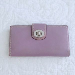 Coach Lavender Leather Wallet